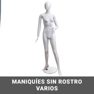 Maniquies sin rostro varios ( Hombre y mujer)