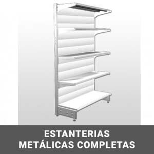 Estanterías metalicas completas