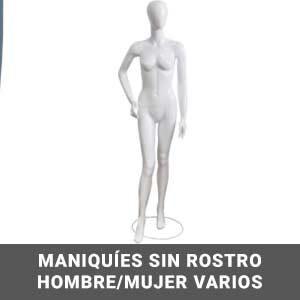 Maniquies sin rostro hombre y mujer varios